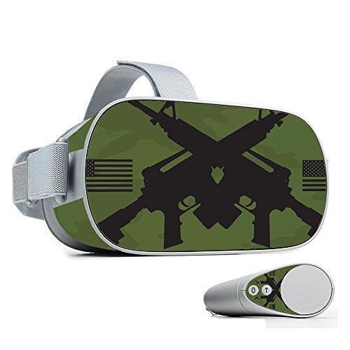 MightySkins Skin for Oculus Go Mobile VR - Molon Labe   Protective, Durable, and Unique Vinyl Decal wrap Cover   Easy to Apply, Remove, and Change Styles   Made in The USA