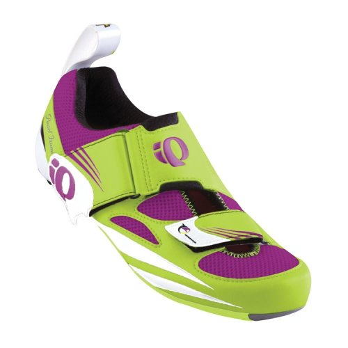 Pearl iZUMi Women's Tri Fly IV Carbon Cycling Shoe,Lime/Orchid,36.5 EU/5 D US by Pearl iZUMi