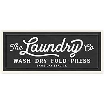 Amazon Stupell Home Dcor Vintage Laundry Sign Cursive