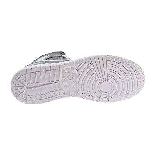 Air Jordan Boys Air 1 Mi Grands Enfants Style Cool Gris / Blanc / Blanc