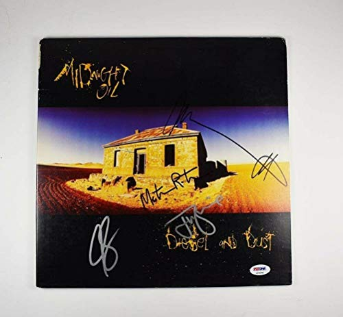 Midnight Oil Diesel and Dust Autographed Signed Album LP Record COA - PSA/DNA - Dna Dust