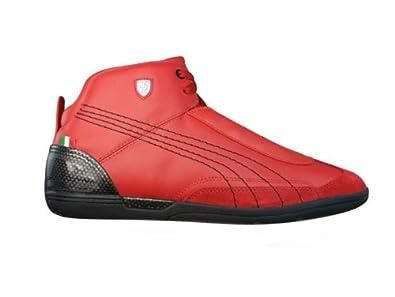 3cc1da2ba5cba1 Puma Driving Power Mid SF Ferrari Mens Leather Trainers Shoes - Red - SIZE  UK