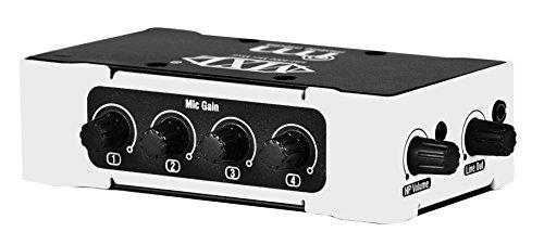 Marshall MXL MM-4000 MiniMixer+ 4-Channel Portable Audio Mixer by MXL Mics