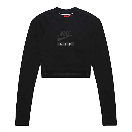 nero nero Sweat shirt Ls Air Crop W W Femme nero Nero Nike Nsw nzw1qOna