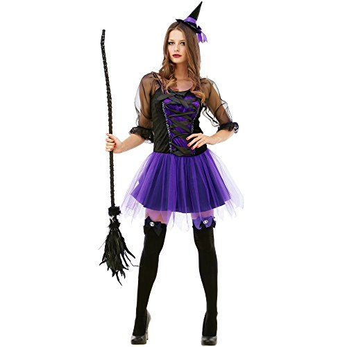 Witch Halloween Costumes For Women (Spellbinding Sorceress Women's Halloween Costume Sexy Witch Classic Fairytale Dress)