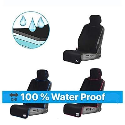 MAJA Premium Neoprene Waterproof Seat Cover (Black with Red Border): Automotive