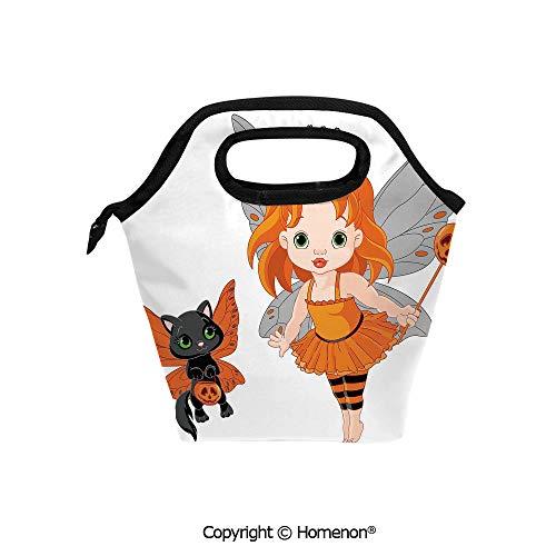 Insulated Neoprene Soft Lunch Bag Tote Handbag lunchbox,3d