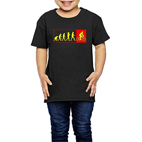 Bicycle Addicted Evolution To Cycles Boys' Girls' Cotton Short Sleeve T-Shirt 5-6 Toddler (Film Addicted)