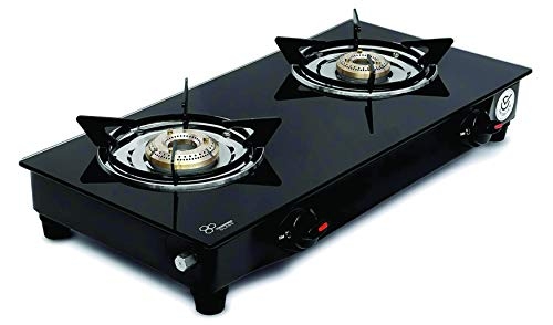SignoraCare 2 Burner Gas Stove, Black (Glass Top, ISI Certified) Price & Reviews