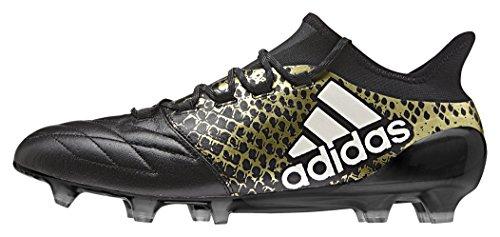 adidas Herren X 16.1 FG Leather Fußballschuhe Schwarz (Negbas / Ftwbla / DORMET)