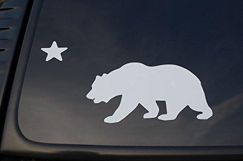 - California Flag Sticker Vinyl Die Cut Decal State Bear Car Window Truck Pick Size/Color! V180 (6