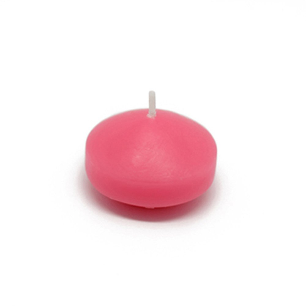 Zest Candle CFZ-068_12 288-Piece Floating Candle, 1.75'', Hot Pink by Zest Candle