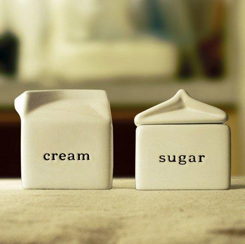 Kerchair Creamer and Sugar Bowl - Set Creamer
