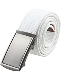 Canvas Web Belts for Men,Solid Color Casual Military Style Belt