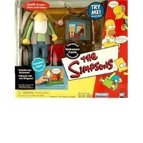(The Simpsons - World of Springfield Interactive Environment (Playset) - Retirement Castle w/exclusive Jasper figure by Playmates/The Simpsons)