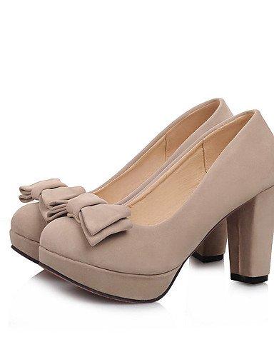 GGX/Damen Schuhe Fleece die vier Jahreszeiten Heels/Schuhe Heels Office & Karriere/Casual geschoben Ferse Stift/Schnalle red-us5 / eu35 / uk3 / cn34