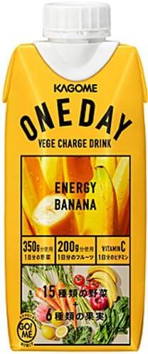 カゴメ ONEDAY ENERGY BANANA 330ml 紙パック 36本 (12本入×3 まとめ買い)