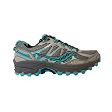 Saucony Women's Excursion Tr11 Running Shoes, Grey/Blue/Black, 8 W US