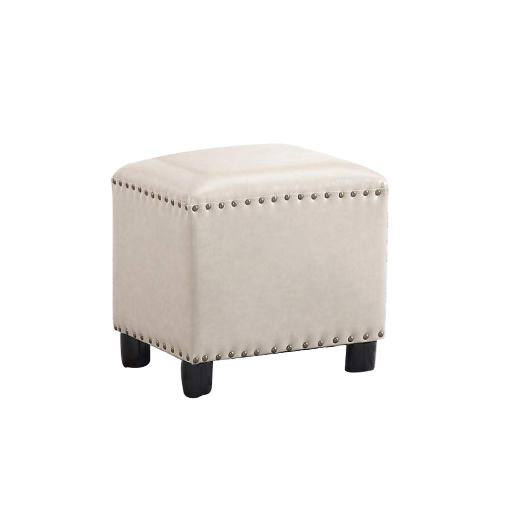 B American Cube Stool Wooden Stool Home Change shoes Sofa Stool (color   C)