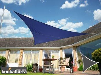 クッカバラ日除シェードセイル 青色 3x3m正方形 紫外線98%カット 防水タイプ OL0105SSS B00OBBCE8K 10995 四角: 3 x 3m  四角: 3 x 3m