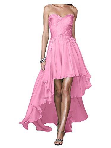Chiffon festa Lungo Alto Vestito damigella Rosa spalline Abiti da da JAEDEN Senza Basso da Abiti ballo 7qgnwF4