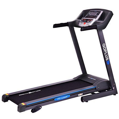 Goplus 2.25HP Folding Treadmill Electric Support Motorized Power Running Fitness Jogging Incline Machine (Classic)