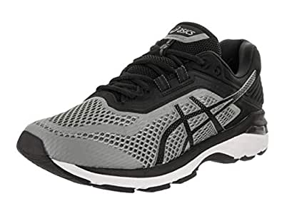 ASICS - Mens Gt-2000 6 Shoes, 7.5 D(M) US, Stone Grey/Black/White