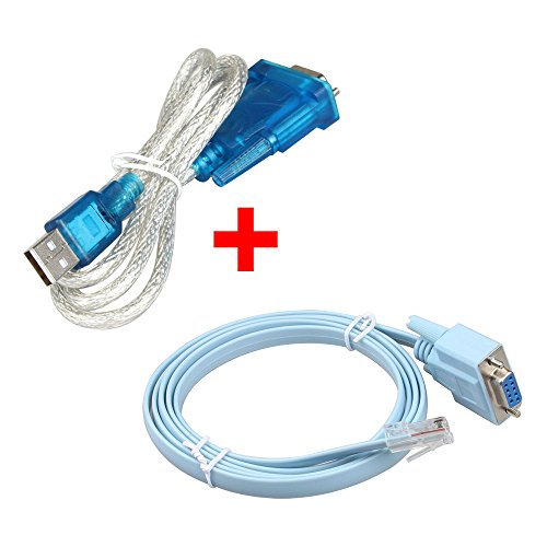 Relper-Lineso USB to Serial DB9 Male Adapter Cable PL2303 Chipset with Serial to RJ45 Console Adapter Cable for Cisco Routers (USB TO DB9 + DB9 TO RJ45) by RELPER-LiNESO (Image #9)