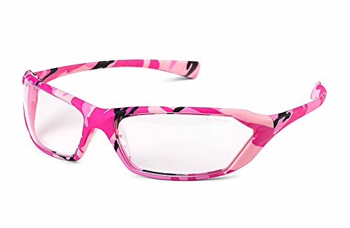 Gateway Safety 23PC80 Metro Ultra-Stylish Eye Safety Glasses, Clear Lens, Women, Pink Camo - Distributors Sunglasses Wholesale