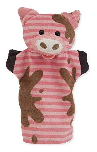 41YOth%2Bu9NL - Melissa & Doug Farm Friends Hand Puppets (Set of 4) - Cow, Horse, Sheep, and Pig
