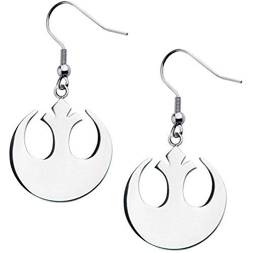 Star Wars Stainless Steel Rebel Alliance Dangle Earrings (Stainless Steel)