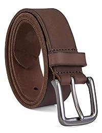 Timberland - Cinturón de jean de piel clásico para hombre