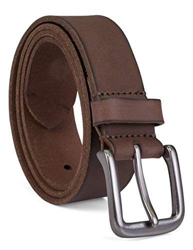 Timberland Men's Classic Leather Jean Belt, Dark Brown, - Leather Classic Brown Distressed