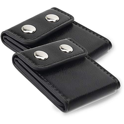 Seatbelt Adjuster, Aikee Comfort Seat Belt Covers, Universal Auto Shoulder Neck Protector Strap Positioner Locking Clip for Adults/Kids - 2 Pack Black