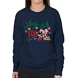 Disney Christmas Mickey & Minnie Jingle Bell Fun Women's Sweatshirt