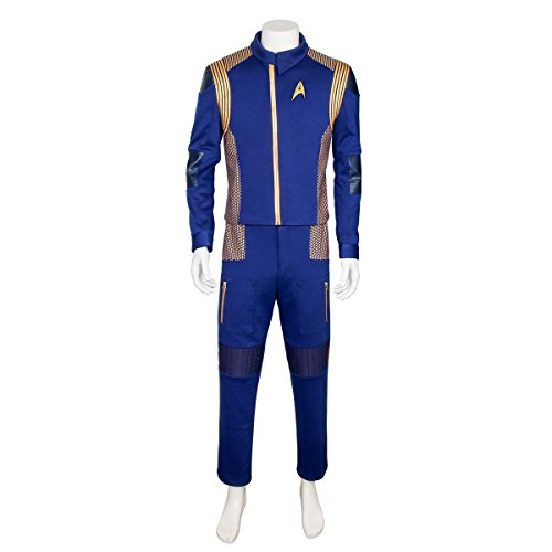 (Partyever Trek Discovery Commander Uniform 2017 New Starfleet USS Discovery Captain Lorca Cosplay Costume Halloween Outfit (Medium,)