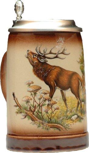(Beer Mug by King - Wildlife Deer German Beer Stein (Beer Mug) 0.5l - Made in Germany)