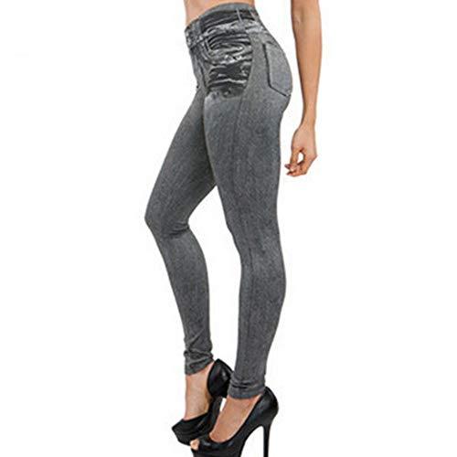 Pants Pocket Slim Leggings Fitness Plus Size Leggins Length Jeans ()