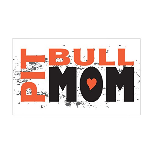 (CafePress Pit Bull Mom Rectangle Sticker Rectangle Bumper Sticker Car Decal)