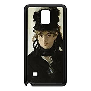 Berthe Morisot With a Bouquet of Violets by Edouard Manet Black Silicon Rubber Case for Galaxy Note 4 by Painting Masterpieces + FREE Crystal Clear Screen Protector