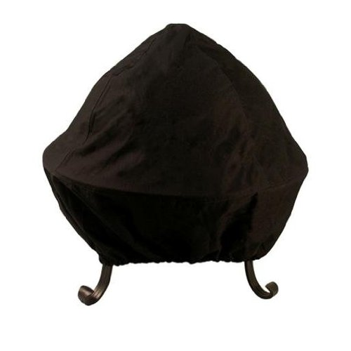 Catalina Creations All Weather Black Vinyl Fire Pit Cover with Double Stitched Elastic Band for Standard or Easy Access Spark Screens, Fits Up to 40