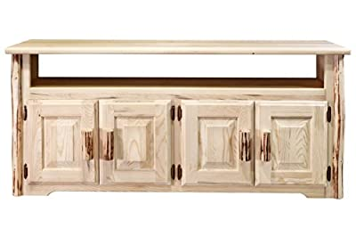 Montana Woodworks Collection Television Stand, Clear Lacquer Finish
