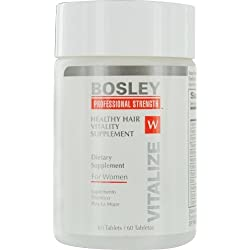 Bosley Professional Strength Hair, Skin and Nail Supplement for Women, 60 ct.