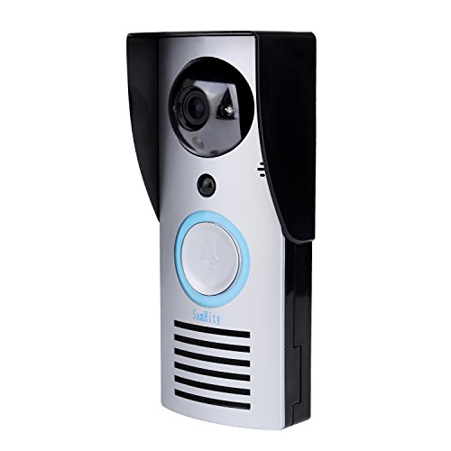 Price comparison product image wireless doorbell video Wireless Wifi Remote 10.0 MP Piexl Unlock Rainproof Night Vision Enabled Intercom Door phone By SamHity … (black)