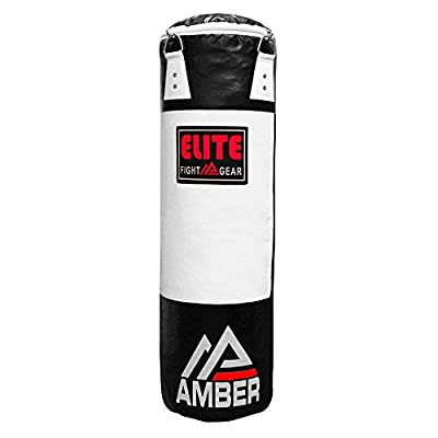 Amber Elite Heavy bag Boxing Muay Thai MMA Fitness Workout Training Kicking Punching UNFILLED Empty Heavy Bag