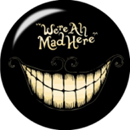 Body Accentz Snap Button We're All mad here 18mm Cabochon Chunk Charm