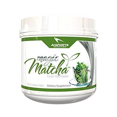 Magic Matcha Green Tea Powder by AI Sports Nutrition   Pure Japanese Green Tea Powder Diet Supplements, Unsweet, 144.2 Gram