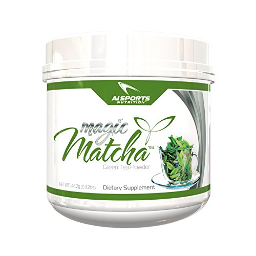 Magic Matcha Green Tea Powder by AI Sports Nutrition | Pure Japanese Green Tea Powder Diet Supplements, Unsweet, 144.2 Gram
