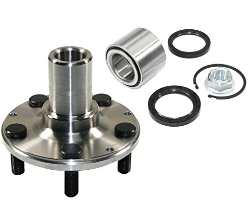 DTA D930502+NT513248 Rear Wheel Hub Wheel Bearing Kit Left or Right Fits Subaru Legacy Impreza Forester With Seals Nut Retaining Clip - AWD - Subaru Rear Bearings Wheel