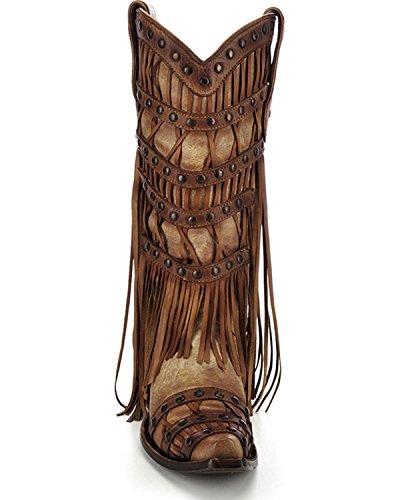 Calzamaglia Da Donna Con Borchie Bordate Con Fibbia - C2988 Tan